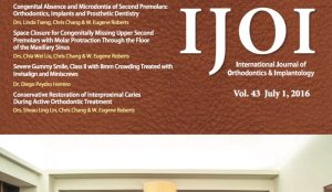 Baja gratis el International Journal of Orthodontics  and Implantology, julio 2016